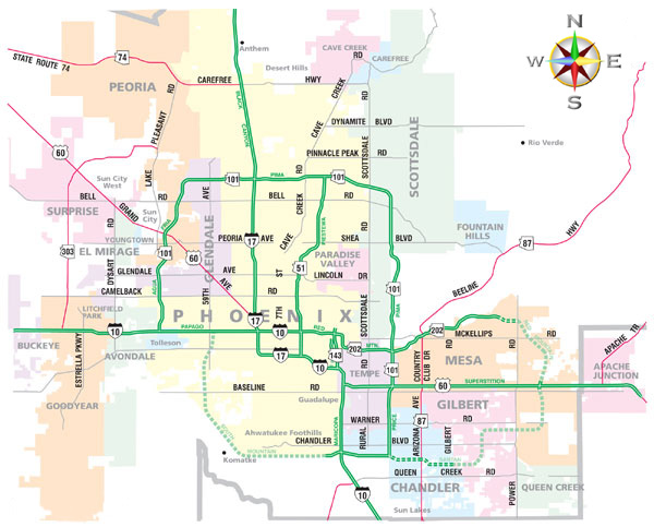 Map Of Downtown Phoenix Az Zip Codes Pictures to Pin on Pinterest PinsDaddy